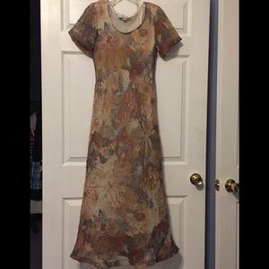 Christy Lyn 7/8 elegant soft pastels floral dress